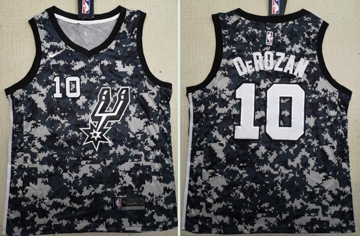 Men San Antonio Spurs 10 Derozan Black City Edition Nike NBA Jerseys