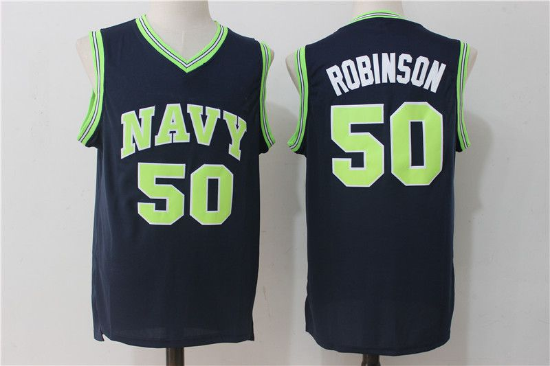 Men San Antonio Spurs 50 Robinson Blue NBA Jerseys