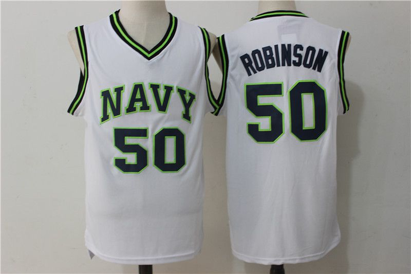 Men San Antonio Spurs 50 Robinson White NBA Jerseys