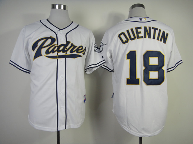 Men San Diego Padres 18 Quentin White MLB Jerseys