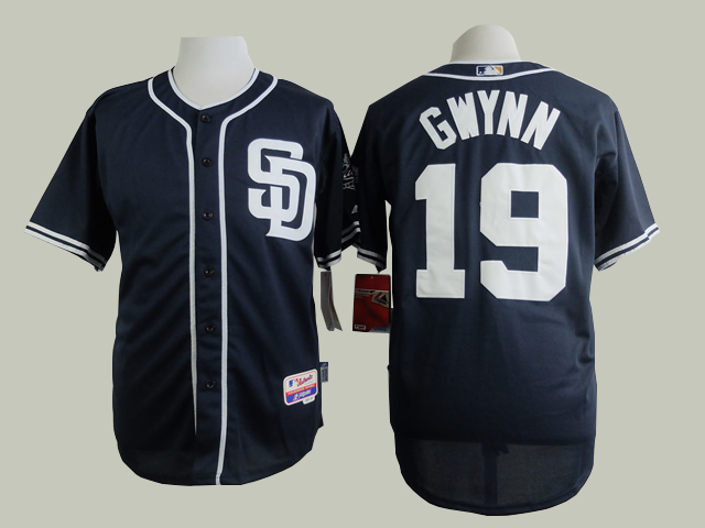 Men San Diego Padres 19 Gwynn Blue MLB Jerseys