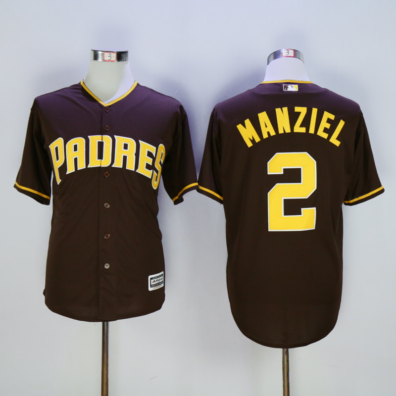Men San Diego Padres 2 Manziel brown Game MLB Jerseys