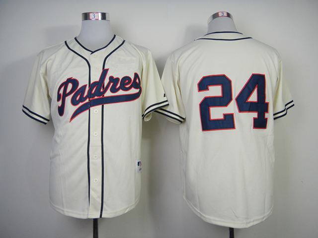 Men San Diego Padres 24 Maybin White Throwback 1948 MLB Jerseys