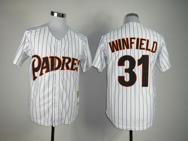 Men San Diego Padres 31 Winfield White MLB Jerseys