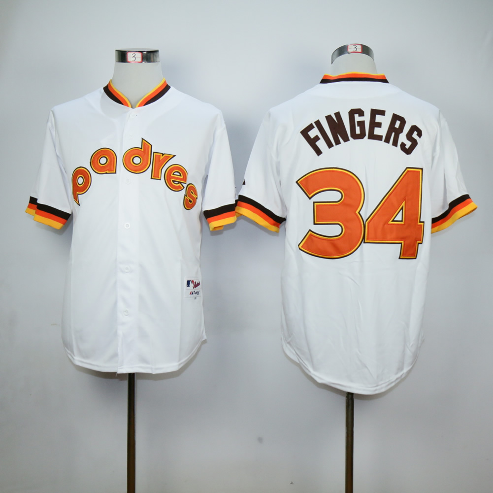 Men San Diego Padres 34 Cashner White Throwback 1984 MLB Jerseys
