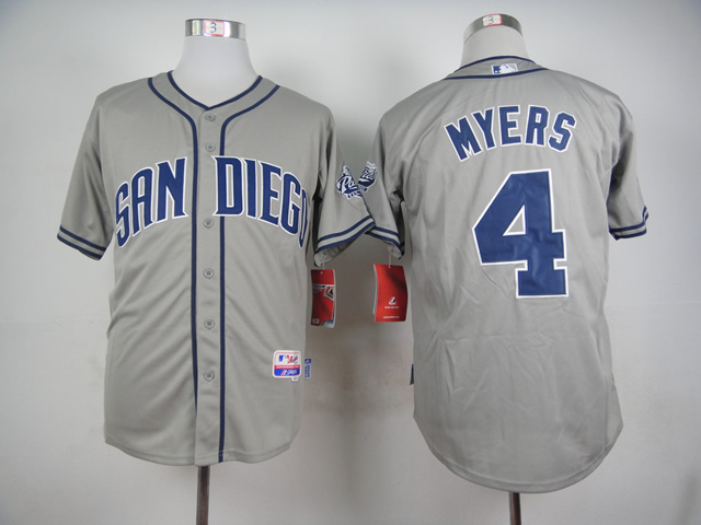 Men San Diego Padres 4 Myers Grey MLB Jerseys
