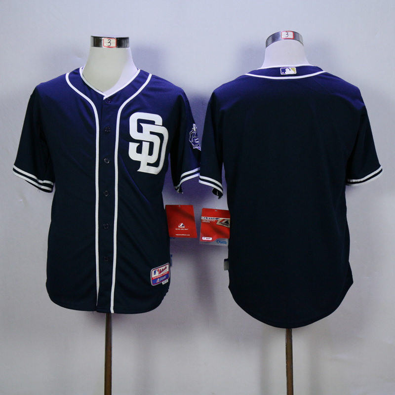 Men San Diego Padres Blank Blue MLB Jerseys