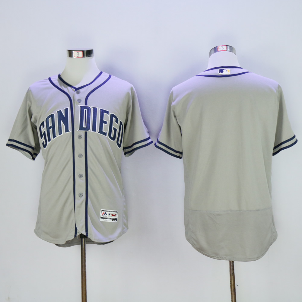 Men San Diego Padres Blank Grey Elite MLB Jerseys