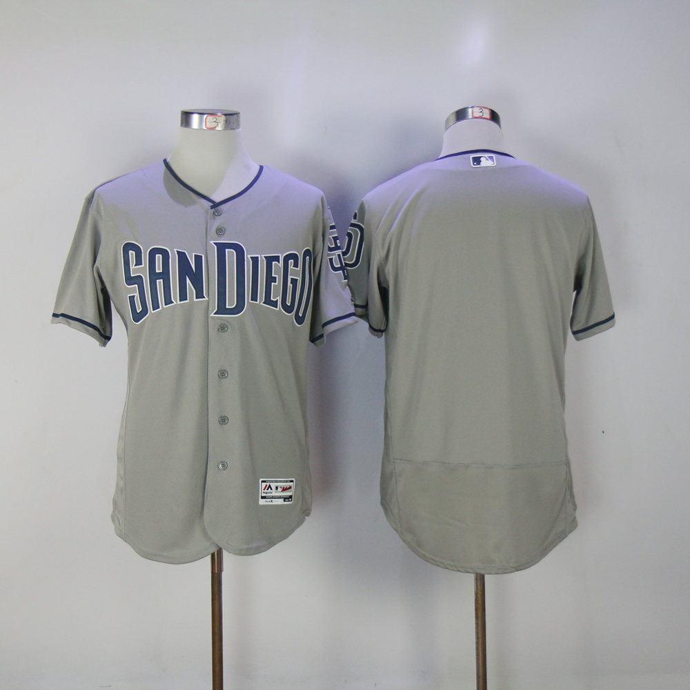 Men San Diego Padres Blank Grey MLB Jerseys