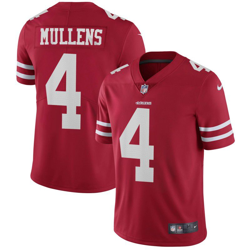 Men San Francisco 49ers 4 Mullens Red Nike Vapor Untouchable Limited Playe NFL Jerseys