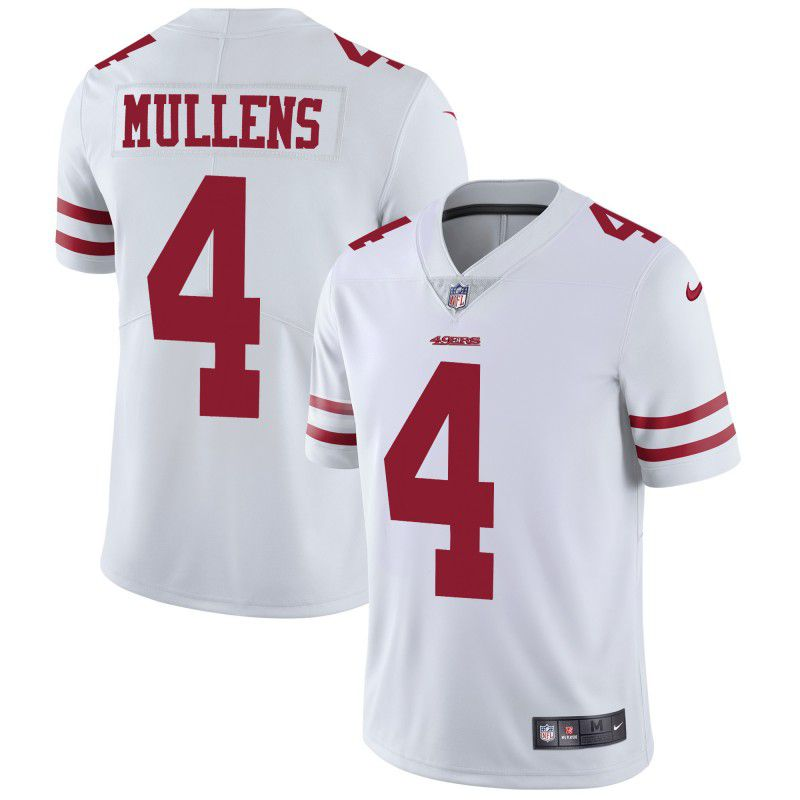 Men San Francisco 49ers 4 Mullens White Nike Vapor Untouchable Limited Playe NFL Jerseys