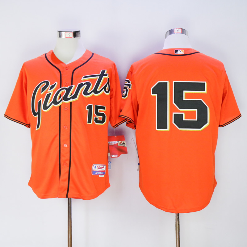 Men San Francisco Giants 15 Bochy Orange MLB Jerseys