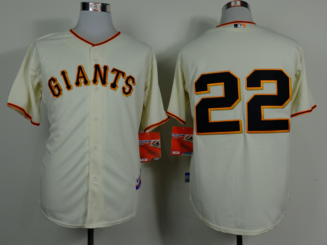 Men San Francisco Giants 22 Clark Cream MLB Jerseys