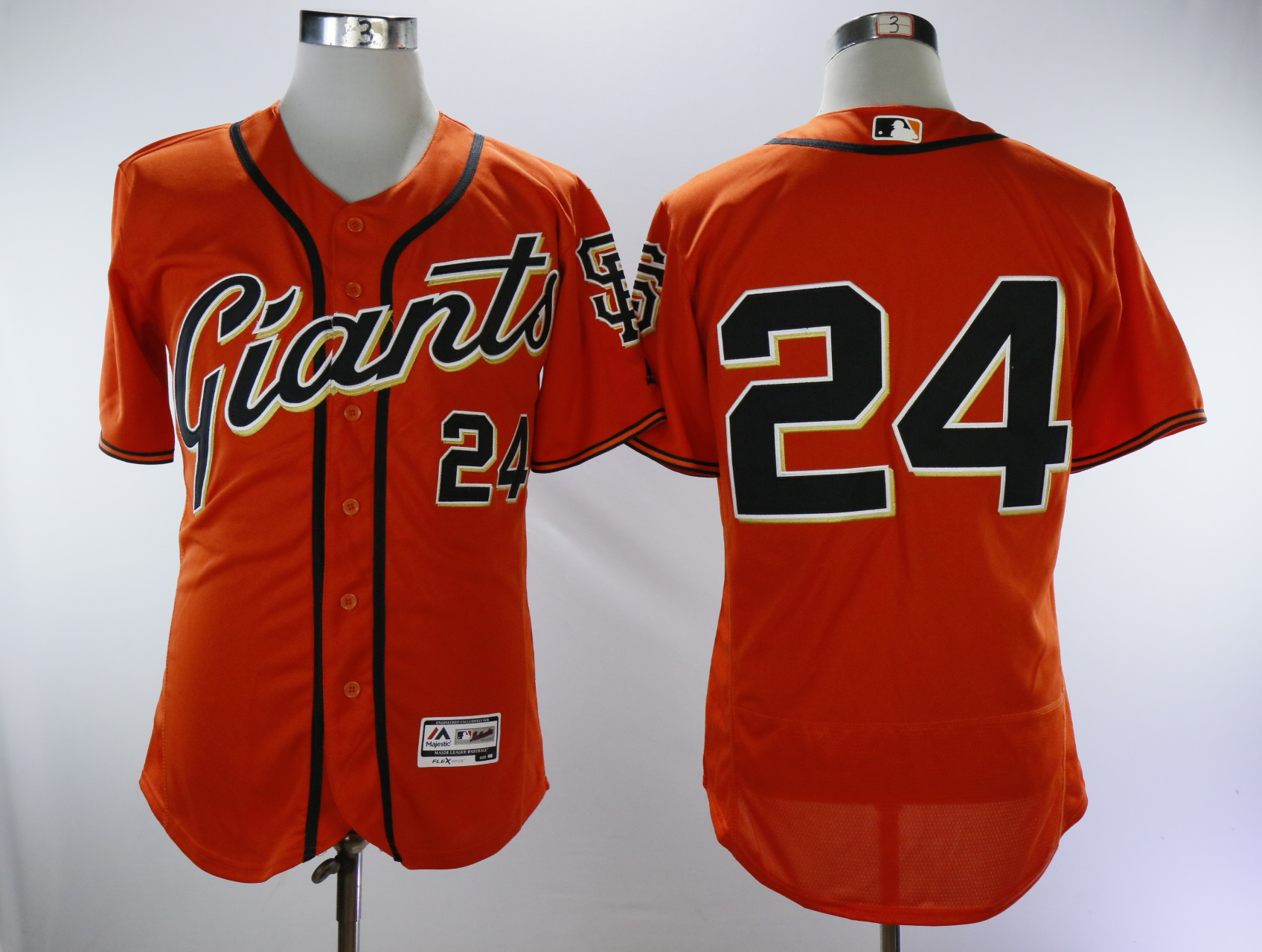Men San Francisco Giants 24 Mays Orange Throwback Elite MLB Jerseys