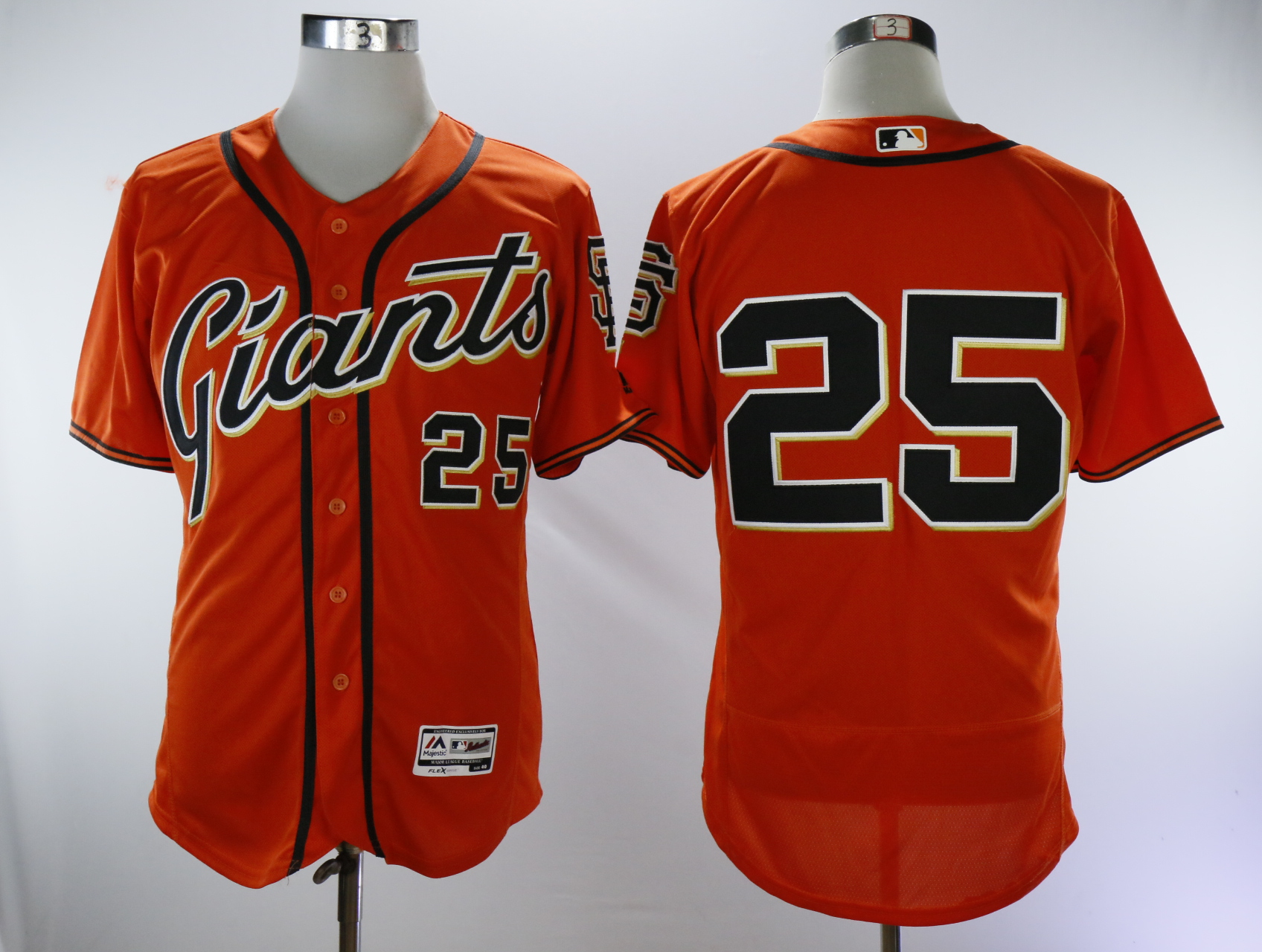 Men San Francisco Giants 25 Bonds Orange Throwback MLB Jerseys