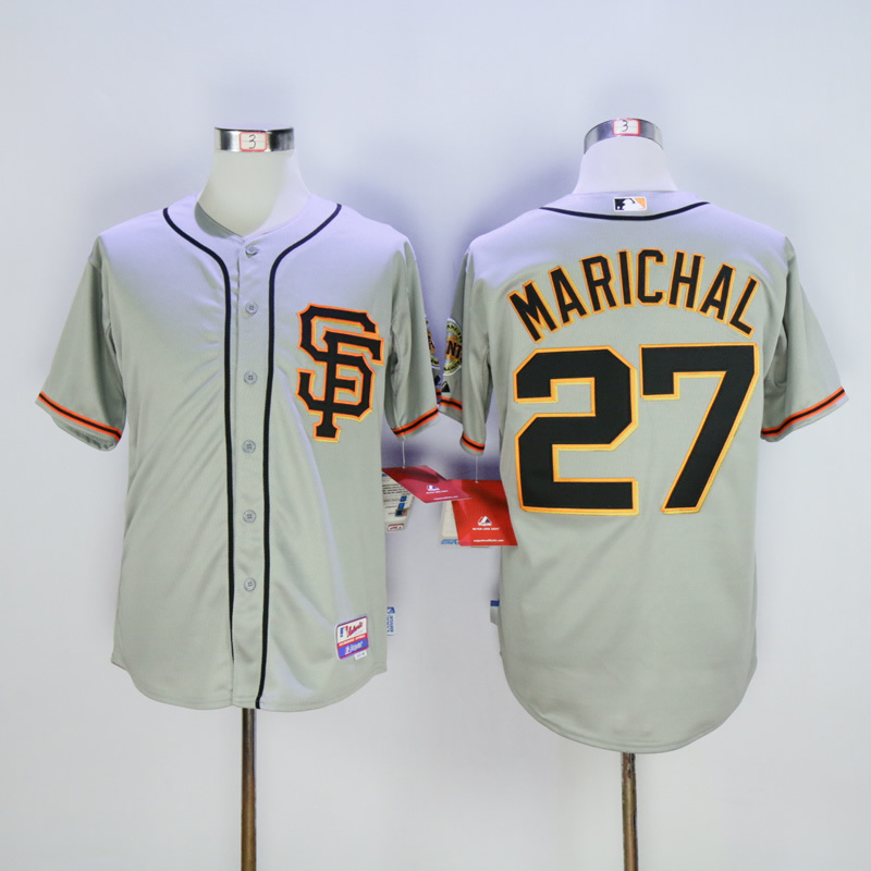 Men San Francisco Giants 27 Marichal Grey MLB Jerseys