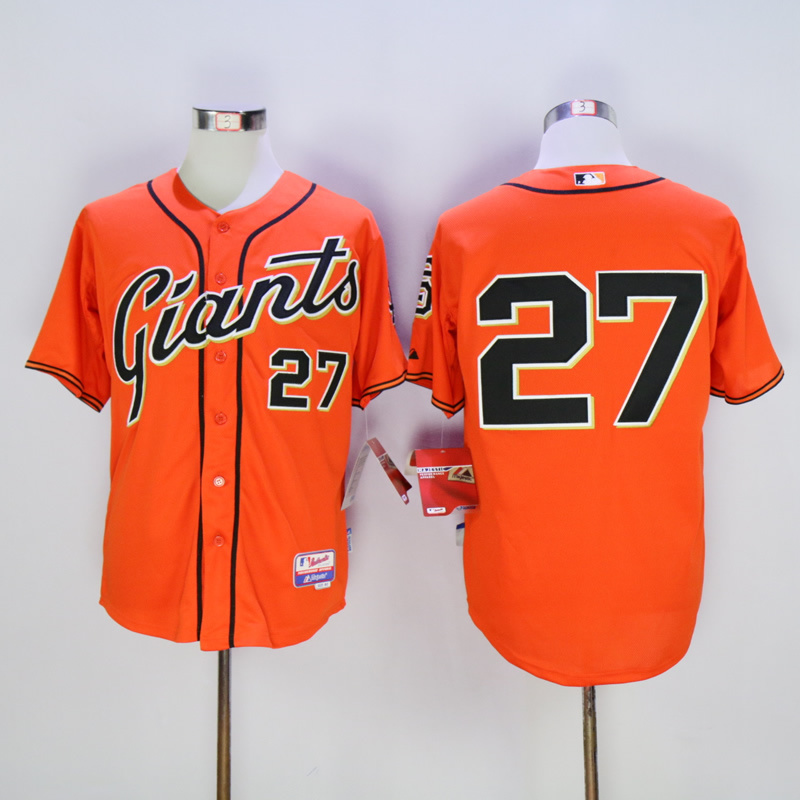 Men San Francisco Giants 27 Marichal Oragne MLB Jerseys