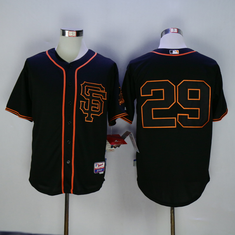 Men San Francisco Giants 29 No name Black MLB Jerseys