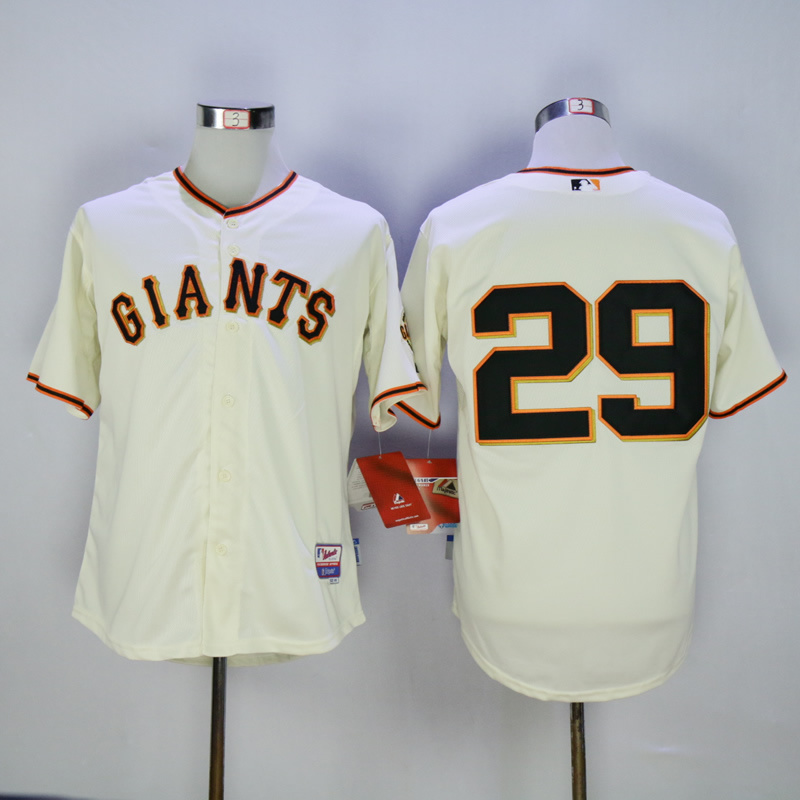 Men San Francisco Giants 29 No name Cream MLB Jerseys