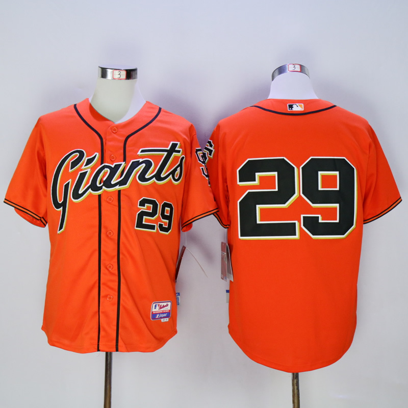 Men San Francisco Giants 29 No name Orange MLB Jerseys