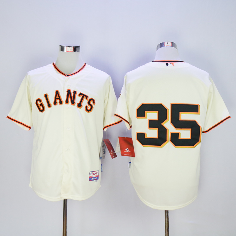 Men San Francisco Giants 35 No name Cream MLB Jerseys