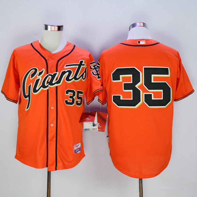 Men San Francisco Giants 35 No name Orange MLB Jerseys