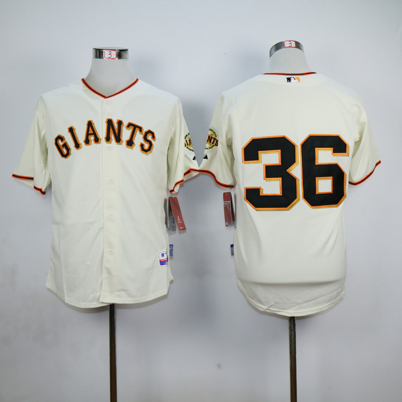 Men San Francisco Giants 36 Perry Cream MLB Jerseys