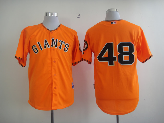 Men San Francisco Giants 48 No name Orange MLB Jerseys