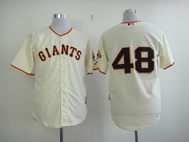 Men San Francisco Giants 48 Sandoval Cream MLB Jerseys
