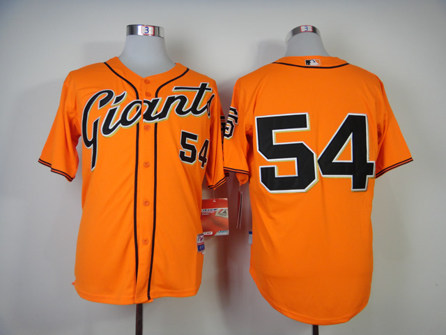 Men San Francisco Giants 54 Romo Orange MLB Jerseys