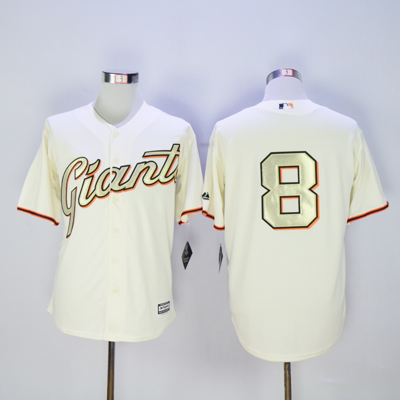 Men San Francisco Giants 8 Pence Cream MLB Jerseys