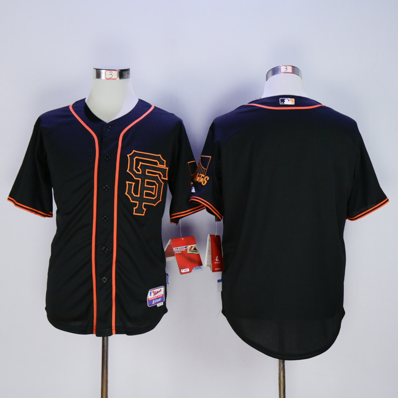 Men San Francisco Giants Blank Black SF MLB Jerseys