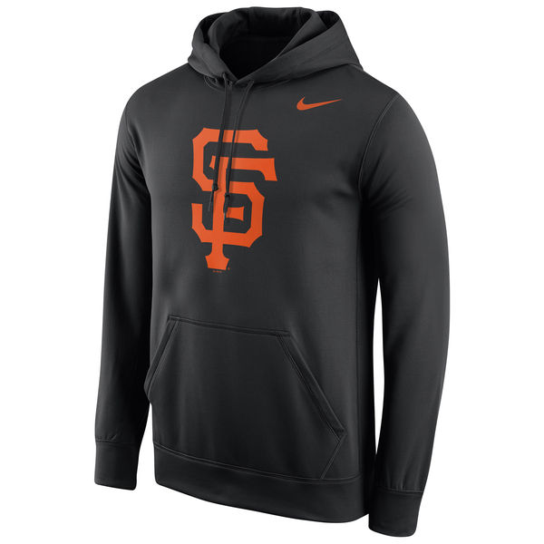 Men San Francisco Giants Nike Logo Performance Pullover Hoodie Black