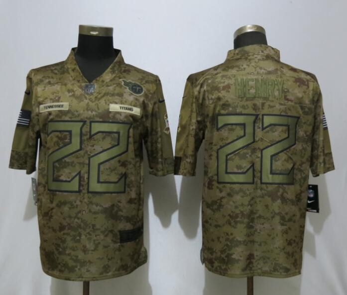 Men Tennessee Titans 22 Henry Nike Camo Salute to Service Limited NFL Jerseys