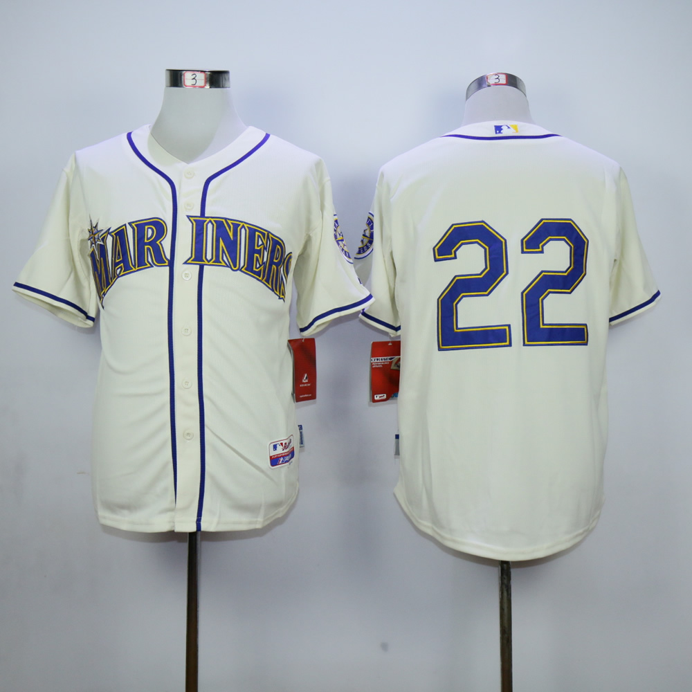 Men Seattle Mariners 22 Cano Cream MLB Jerseys