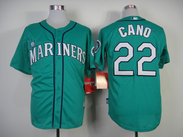 Men Seattle Mariners 22 Cano Green MLB Jerseys