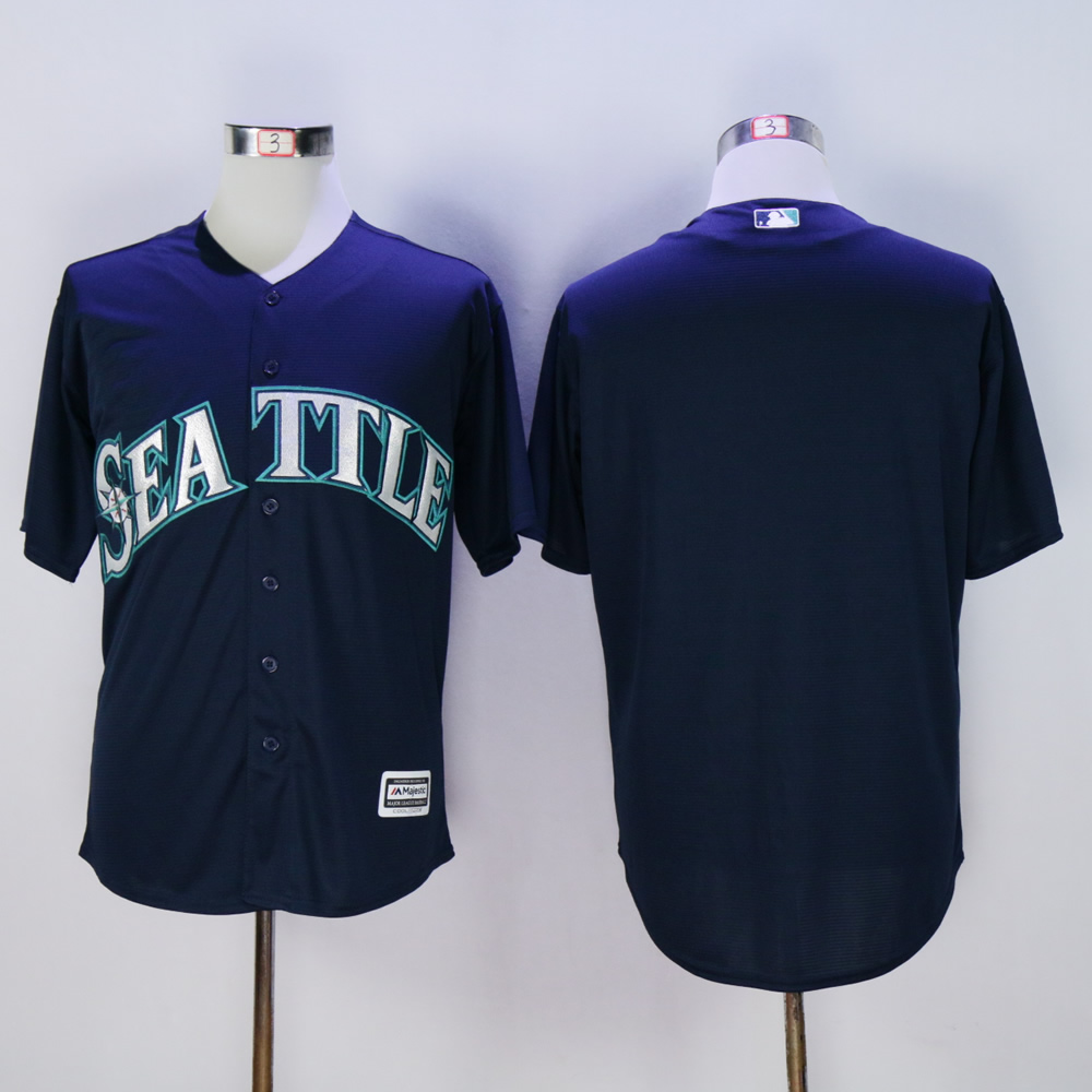 Men Seattle Mariners Blank Blue MLB Jerseys