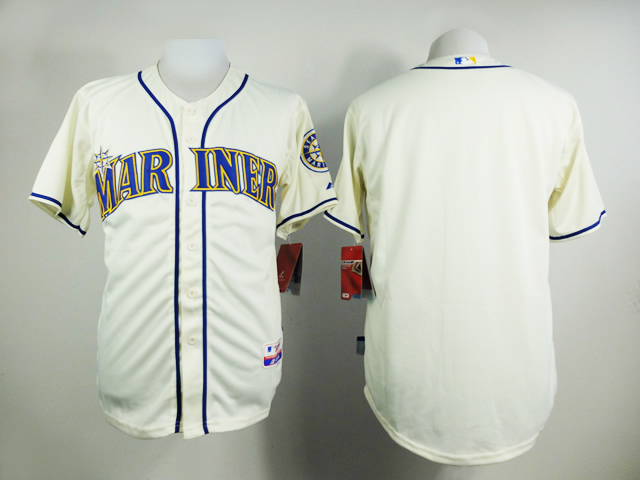 Men Seattle Mariners Blank Cream MLB Jerseys