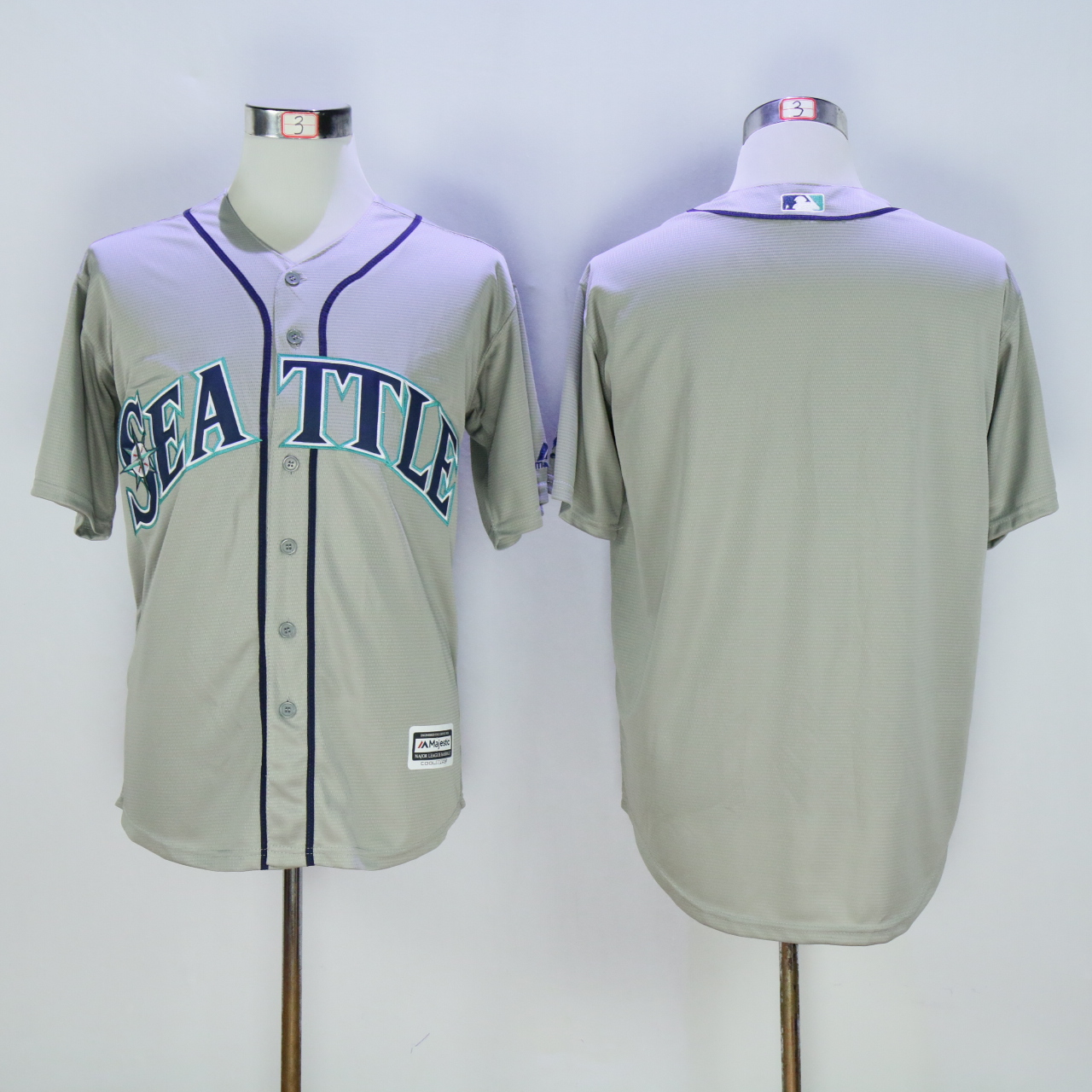 Men Seattle Mariners Blank Grey MLB Jerseys
