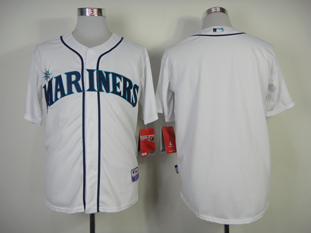 Men Seattle Mariners Blank White MLB Jerseys