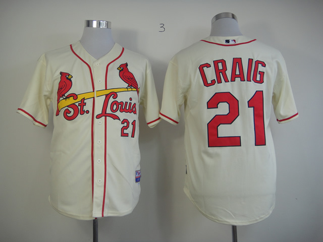 Men St. Louis Cardinals 21 Craig Cream MLB Jerseys