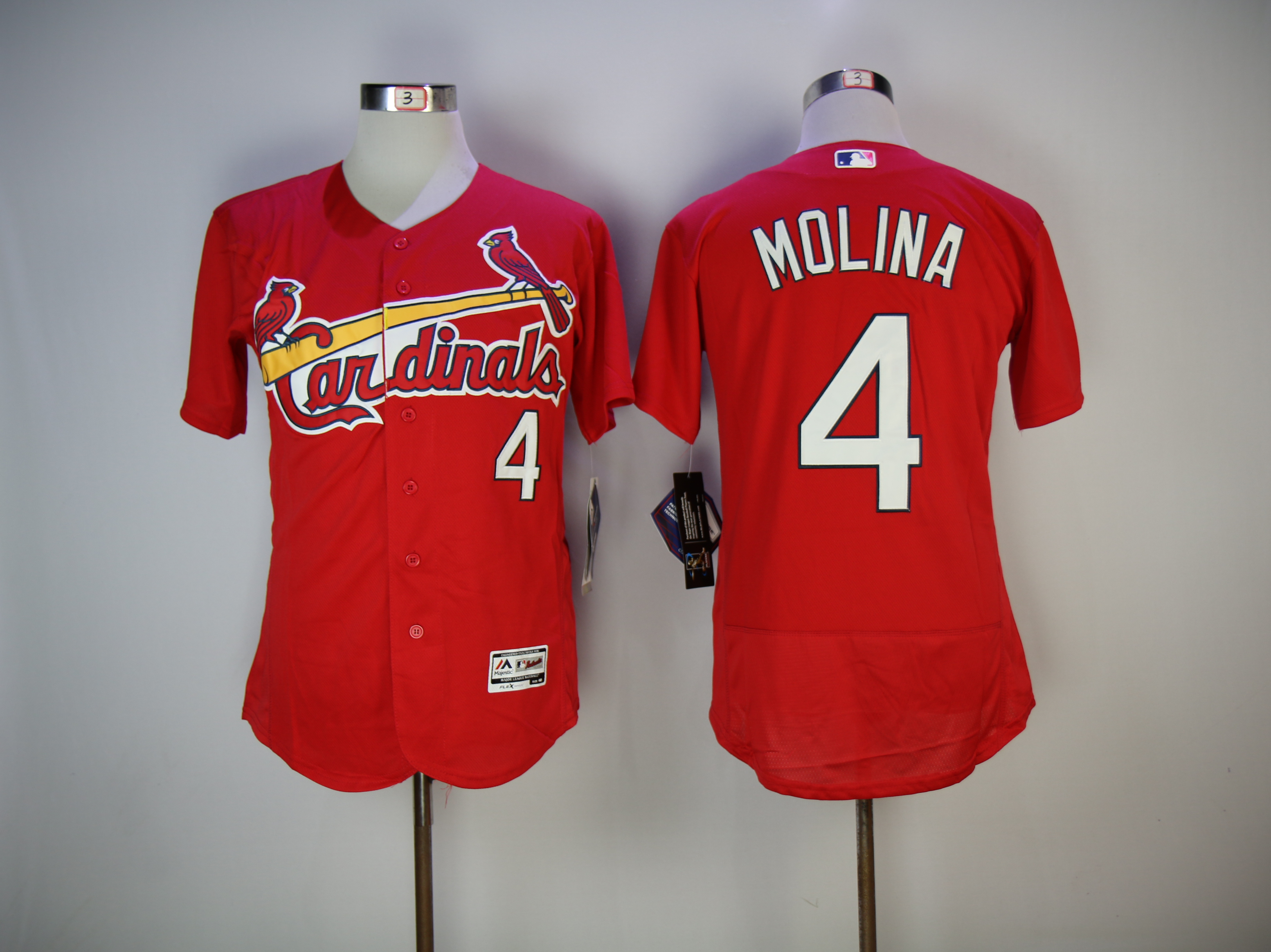 Men St. Louis Cardinals 4 Molina Red Elite MLB Jerseys