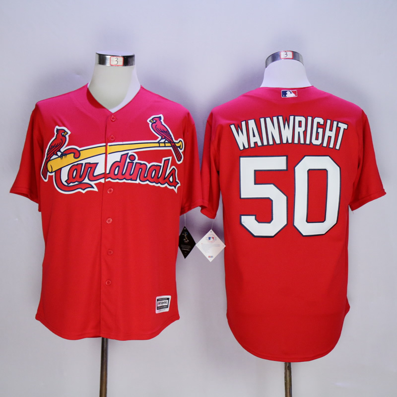 Men St. Louis Cardinals 50 Wainwright Red MLB Jerseys