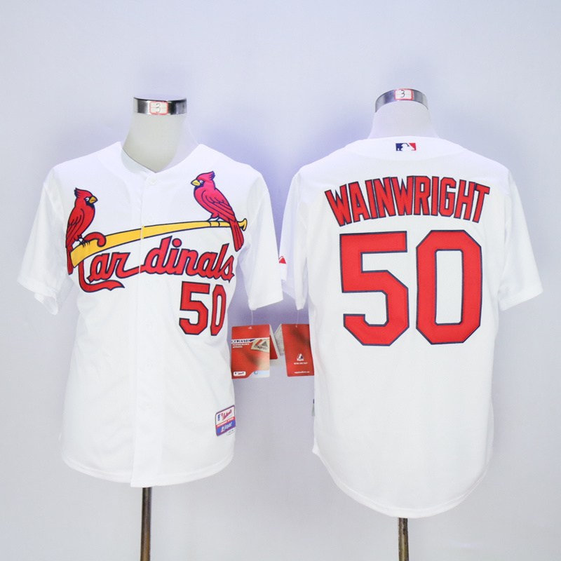 Men St. Louis Cardinals 50 Wainwright White MLB Jerseys