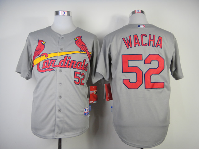 Men St. Louis Cardinals 52 Wacha Grey MLB Jerseys