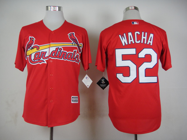 Men St. Louis Cardinals 52 Wacha Red MLB Jerseys