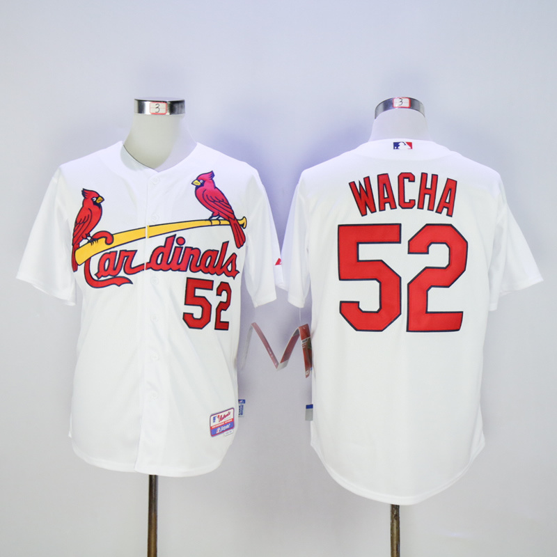 Men St. Louis Cardinals 52 Wacha White MLB Jerseys