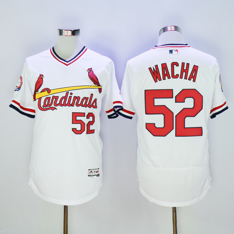 Men St. Louis Cardinals 52 Wacha White Throwback Elite MLB Jerseys