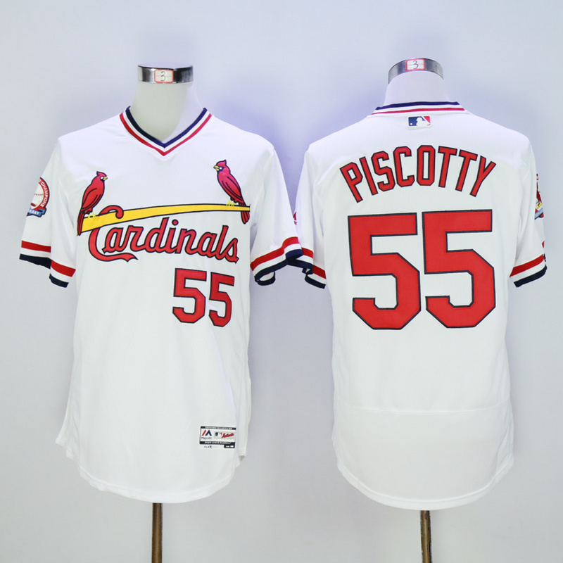 Men St. Louis Cardinals 55 Piscotty White Throwback 1985 Elite MLB Jerseys