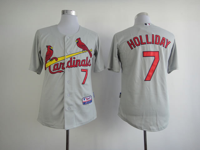 Men St. Louis Cardinals 7 Holliday Grey MLB Jerseys